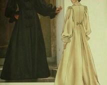 """Coatdress - Victorian Style by Oscar de la Renta Vogue Pattern 2714  Uncut   Sizes 18-20-22  Bust 40-42-44"""""""""""