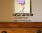 Canvas Children's Wall Art - Customized - Choose from any of Phyllis Harris Designs art - Children's room decor - Nursery