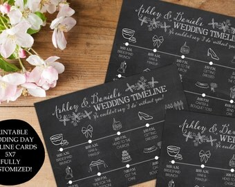 Wedding timeline for bridal party template
