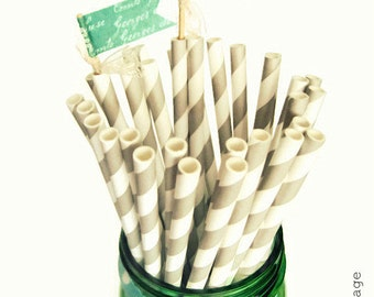 Silver Paper Straws, Silver or Gold Swirl Paper Straws, Graduation Paper Straws, Gold & Silver paper straws, Party Supplies, Paper Straws