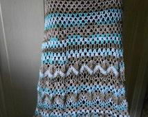 Crochet Skirt Long Cotton Skirt Summer Skirt  Zig Zag Skirt Those Evening Bells  FREE SHIPPING