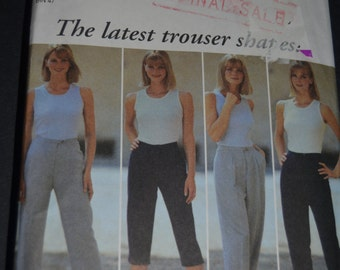 New Look 6736 Womens Pants Sewing Pattern  - Size 8 - 18 - UNCUT