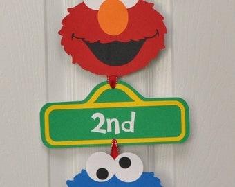 Sesame Street Door Sign, Sesame Street Party
