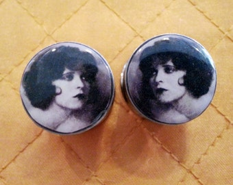 Clara Bow Plugs sizes 2g - 2 Inches Double Flare or Single Flare
