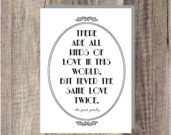 Great gatsby never the same love twice movie quote famous book quote