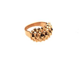 3D print statement gold ring Studs Sleek