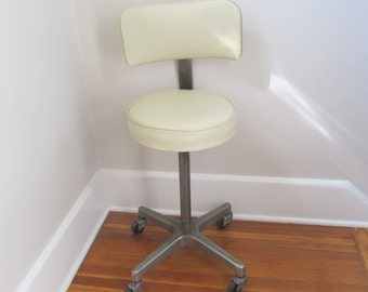 Adjustable Stool, Mid Century, Chair, Medical