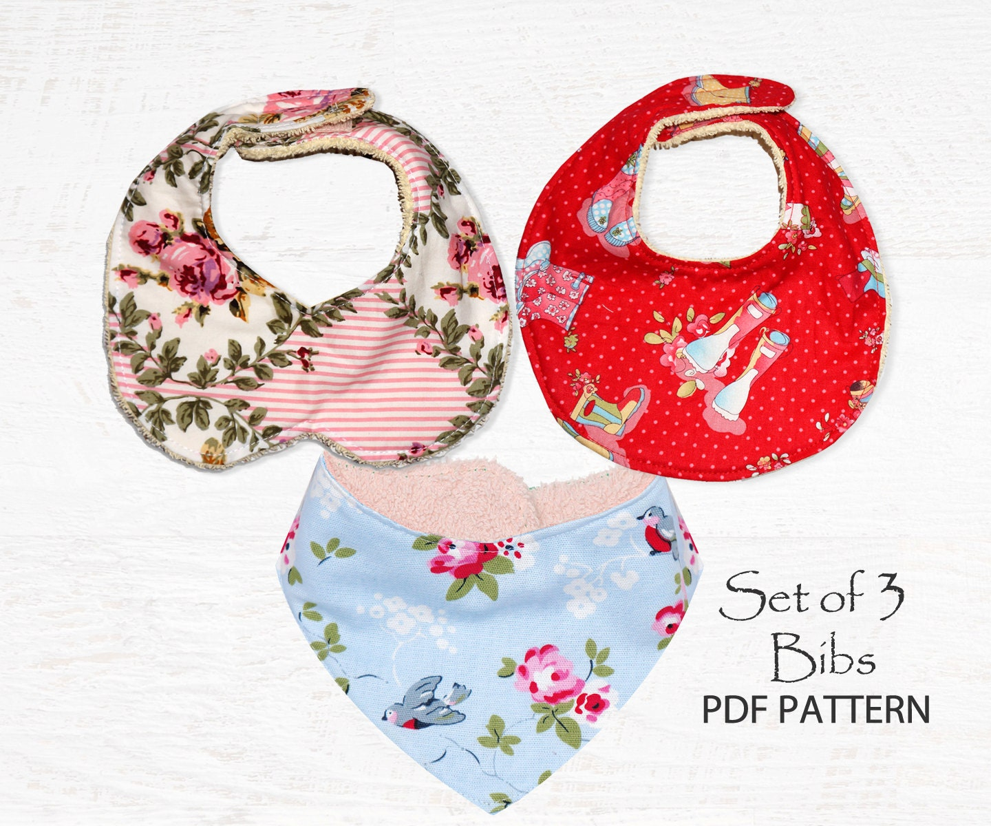 Baby Sewing Pattern For Bibs Pdf Sewing Pattern Bandana Bib