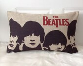 1 handmade linen cottonthe beatles band peopleprinted  decorative  pillow case / cushion cover 30cm x 50cm