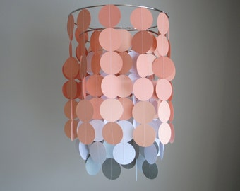 Chandelier Mobile - Peach White Grey // Nursery Mobile // Choose your colors