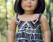 "The Kaila -  Tribal Maxi Dress for 18"" American Girl Dolls"