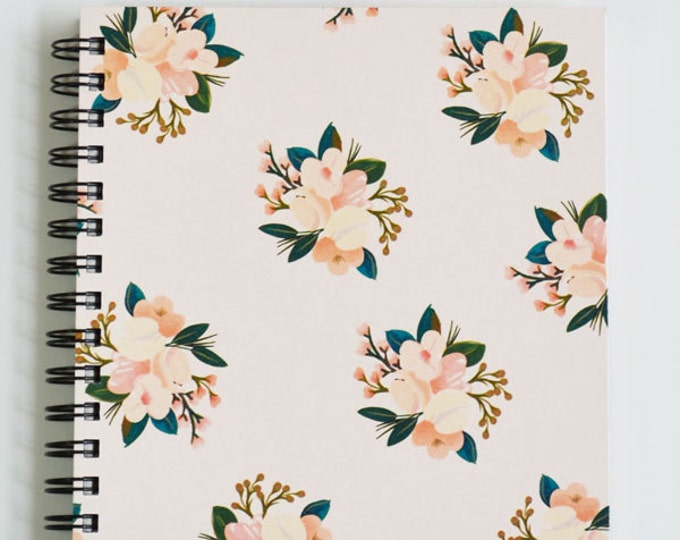First Snow Notebook/Journal Blush Floral