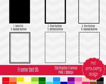 75% OFF Sale - Frame Set 05 - 258 Digital Clip Art - Instant Download - PNG (CA135)