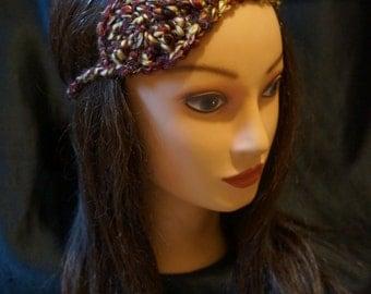 Women's Crochet Multi Color Autumn Fall Leaf Headband