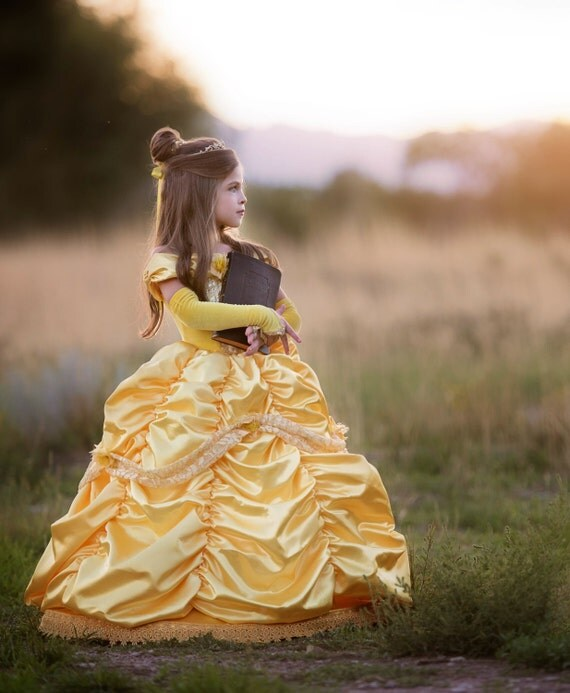 Beauty and the Beast stunning dress from Ella Dynae etsy store! #princess #dress #belle #handmade #etsy #party #birthday