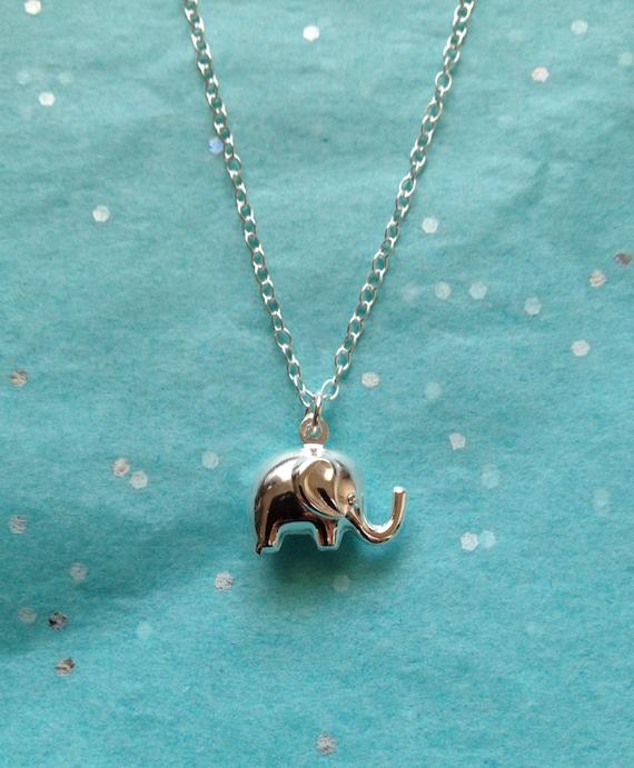 silver elephant necklace boho jewelry uk shop mothers day