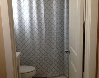 quatrefoil shower curtain you pick lattice colors standard or extra long length 70 74