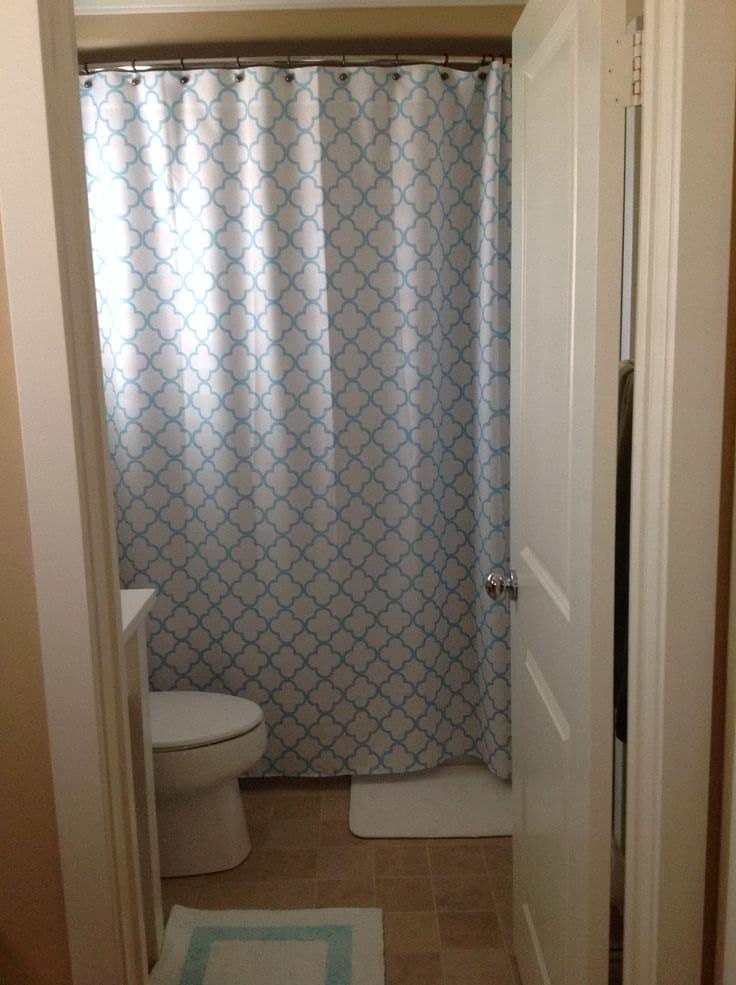 quatrefoil shower curtain you pick lattice colors standard or. Black Bedroom Furniture Sets. Home Design Ideas