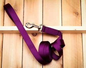 Dog Leash - Webbing Dog Lead, Heavy Duty, Long Leash, Long Lead, Purple