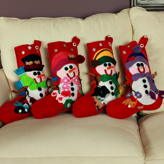 Items Similar To Snowmen Christmas Stockings Personalized