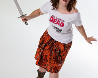Adult's These Boots are made for Walking Dead Skirt