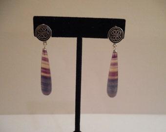 Rainbow Fluorite Drop Earrings