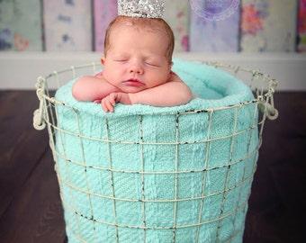 Newborn Crown, Rhinestone Tiara, Mini Baby Crown, Newborn Crown Prop