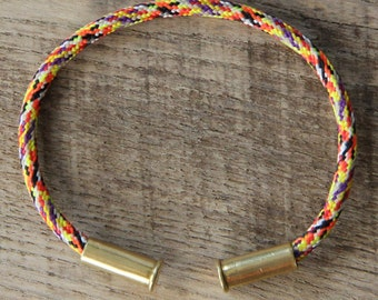 BRZN Recycled .22lr Bullet Casing Overkill Camo 550 Paracord Bracelet