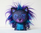 Neon Lion Kitty // Hand Painted OOAK Art Doll // Custom Vinyl Toy // Mini Trikky // Kidrobot // Cat // Desk Accessory