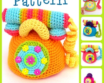 Pattern, Crochet Telephone,  TootyLou, Baby Shower, Gift