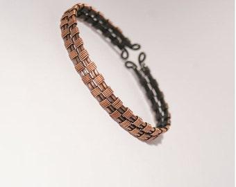 men's cuff bracelet-wire wrapped braclet- copper bracelet-wire wrapped cuff bracelet-wire wrapped jewelry handmade
