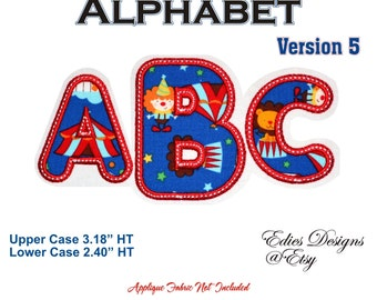Applique Alphabet Machine Embroidery Applique Alphabet Digital Download