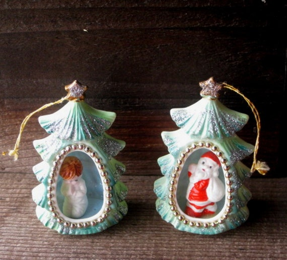 Christmas Ornaments In China : Bone china christmas ornaments santa and praying child