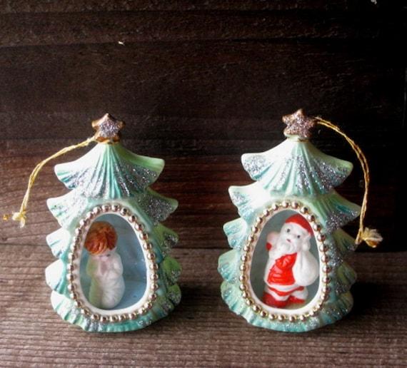 Christmas Ornaments From China : Bone china christmas ornaments santa and praying child