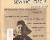 Aunt Jane's Sewing Circle Summer 1978 / Vintage Sewing Knitting Crochet Magazine