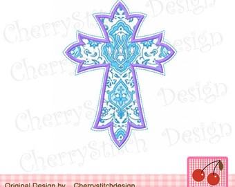 Cross  Embeoidery Applique 05 -4x4 5x5 6x6 inch