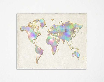 Map dorm room decor etsy world map poster map art home office wall art travel nursery gifts gumiabroncs Images