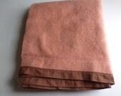Kenwood Virgin Wool Rust Colored Blanket - Canadian Made Virgin Wool Kenwood Ramcrest Blanket - Vintage BLanket