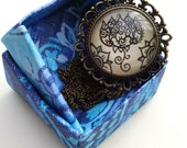 Lotus Blossom Necklace Yoga Art Floral Design Henna Mehndi Vintage Style Hand Drawn Handmade Jewelry Creativity Grace Beauty Symbolism