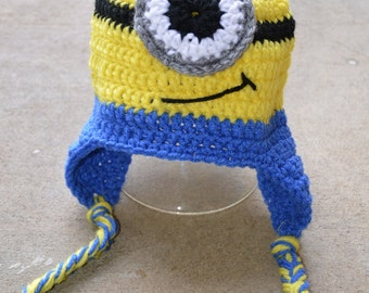Minion Beanies, Minions, Minion hat, One eye minion, two eyed minion, yellow, blue, halloween costume, halloween beanie,
