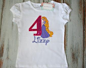 Rapunzel birthday shirt
