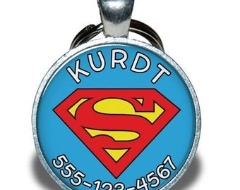 Pet ID Tag - Superman *Inspired*