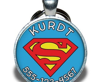 Pet ID Tag - Superman *Inspired* - Dog tag, Cat Tag, Pet Tag