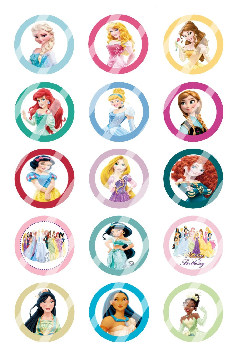 baby photo collage ideas download - Disney Princess Custom Birthday Party 1 inch Circles Confetti