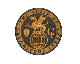 Machine Embroidery Design Instant Download - Venture Brothers Guild of Calamitous Intent  GCI Logo