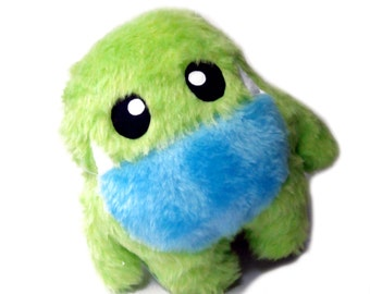 Big Fluse Kawaii Plush cute Monster Mauli  green -blue