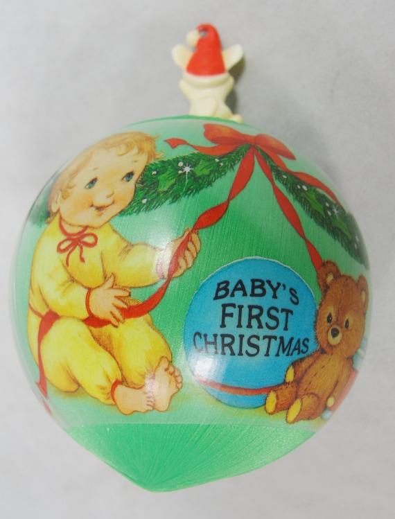 1985 Hallmark Baby's 1st Christmas Satin by ...