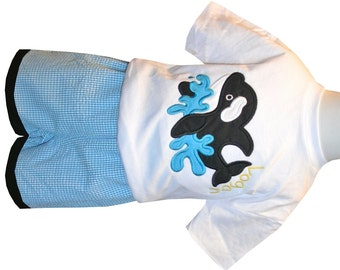 BOY'S SEAWORLD Shamu Shirt or Shirt and Shorts Outfit