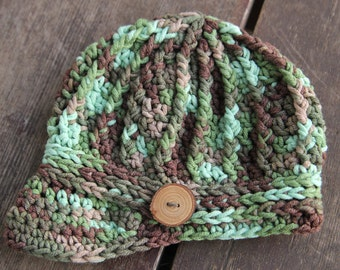 Camo Newsboy Beanie for Newborns, Babies, and Toddlers