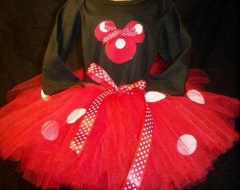 Disney Minnie Mouse Inspired Tutu & T-shirt Combo  - Available in 7 Color Combinations or add your own!